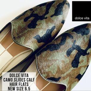 Dolce Vita Grant Camo Mule Loafer Slides NWT 6.5